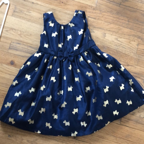 16e367fb68 Gymboree Other - Gymboree girls navy blue and gold Scottie dress